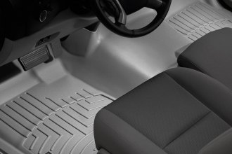 WeatherTech® 462941 - DigitalFit™ Molded Floor Liner (1st Row - Over The Hump, Gray)