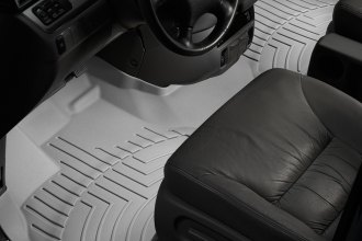 WeatherTech® 463171 - DigitalFit™ Molded Floor Liners (1st Row - Over The Hump, Gray)