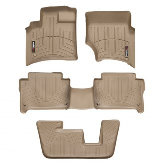 WeatherTech® - DigitalFit™ 1st, 2nd & 3rd Row Tan Floor Liners Set