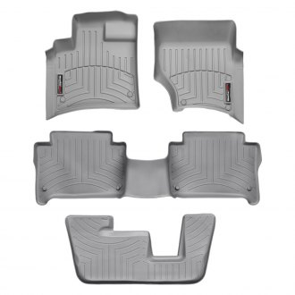 WeatherTech® - DigitalFit™ 1st, 2nd & 3rd Row Gray Floor Liners Set