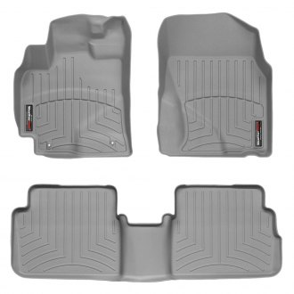 WeatherTech® - DigitalFit™ 1st & 2nd Row Gray Floor Liners Set