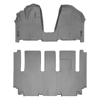 WeatherTech® - DigitalFit™ 1st & 2nd Row Gray Floor Liners Set, Over The Hump