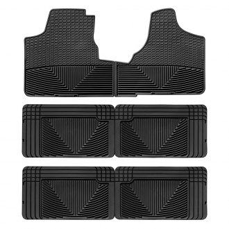 WeatherTech W16-W25-W25 - All-Weather 1st, 2nd & 3rd Row Black Floor Liners Set