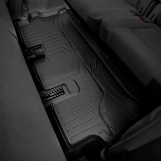 Image may not reflect your exact vehicle! WeatherTech� Molded Floor Liners - 3rd Row, Black
