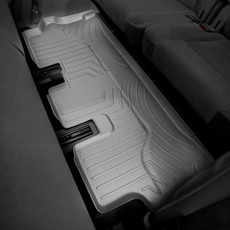 Image may not reflect your exact vehicle! WeatherTech� Molded Floor Liners - 3rd Row, Gray
