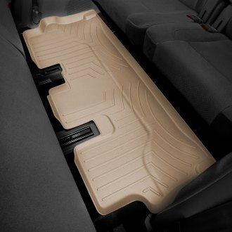 Image may not reflect your exact vehicle! WeatherTech� Molded Floor Liners - 3rd Row, Tan