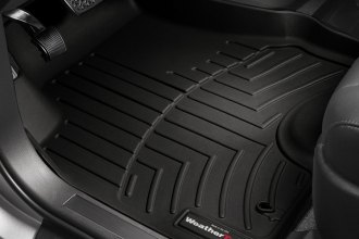 WeatherTech® 444641 - DigitalFit™ Molded Floor Liners (1st Row - Over The Hump, Black)