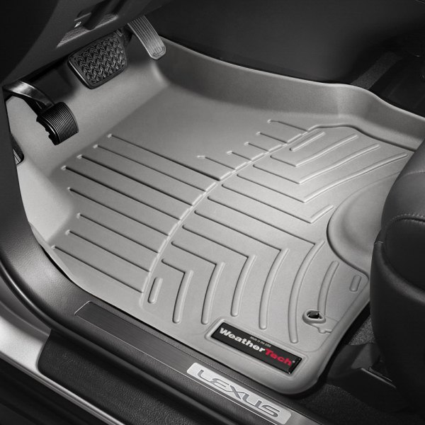 Image may not reflect your exact vehicle! WeatherTech® - DigitalFit™ Molded Floor Liners - Gray