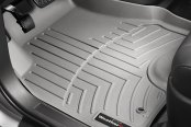 Image may not reflect your exact vehicle! WeatherTech® - DigitalFit™ Molded Floor Mats - 1st Row, Gray