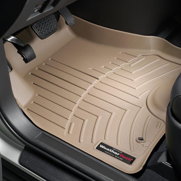 Image may not reflect your exact vehicle! WeatherTech® - DigitalFit™ Molded Floor Mats - 1st Row, Tan
