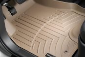 Image may not reflect your exact vehicle! WeatherTech® - DigitalFit™ Molded Floor Liners - 1st Row, Tan