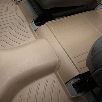 Image may not reflect your exact vehicle! WeatherTech® - DigitalFit™ Molded Floor Liners - 2nd and 3rd Row, Tan
