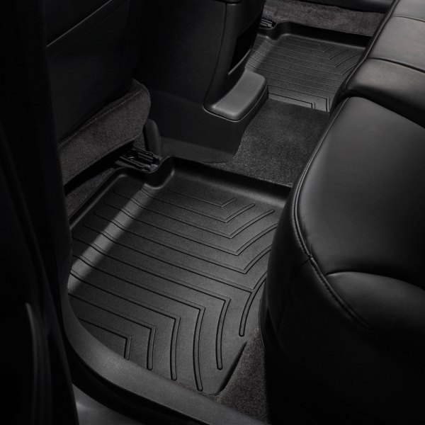 Image may not reflect your exact vehicle! WeatherTech® - DigitalFit™ Molded Floor Liners - Black