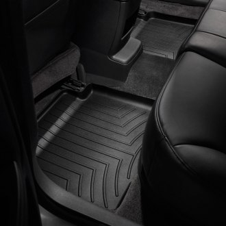 Image may not reflect your exact vehicle! WeatherTech� Molded Floor Liners - 2nd Row, Black