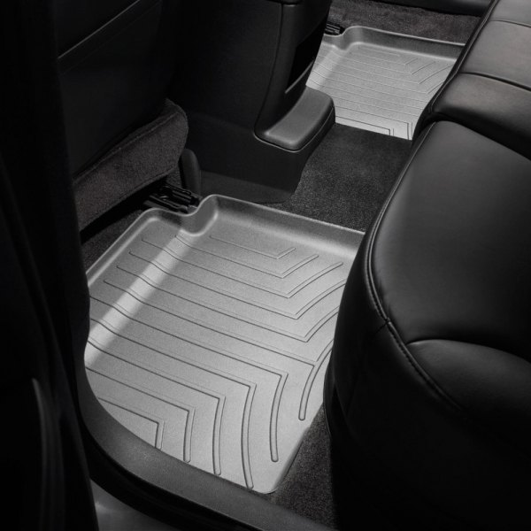 Image may not reflect your exact vehicle! WeatherTech® - DigitalFit™ Molded Floor Liners - 2nd Row, Gray