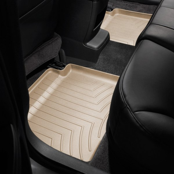 Image may not reflect your exact vehicle! WeatherTech® - DigitalFit™ Molded Floor Liners - 2nd Row, Tan