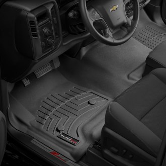 WeatherTech® - DigitalFit™ 1st Row and Center Aisle Black Molded Floor Liners