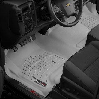 WeatherTech® - DigitalFit™ 1st Row and Center Aisle Gray Molded Floor Liners