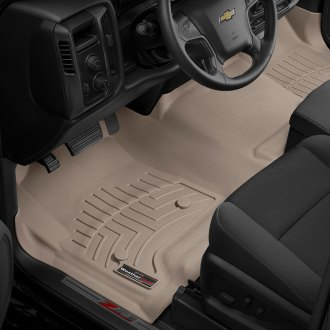 WeatherTech® - DigitalFit™ 1st Row and Center Aisle Tan Molded Floor Liners