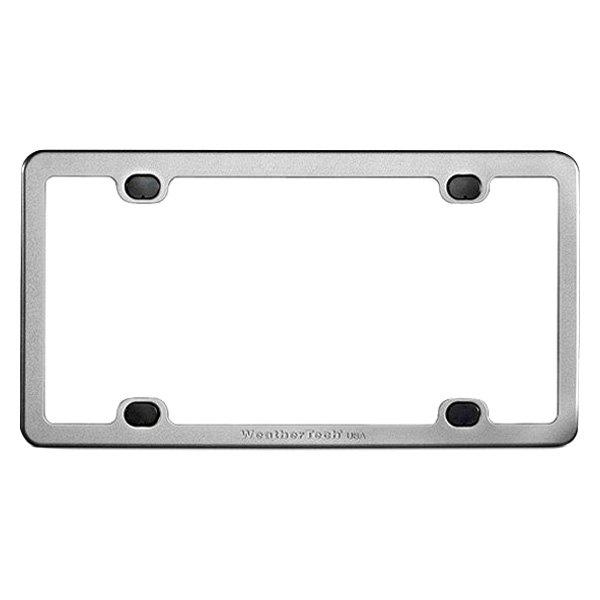 WeatherTech® 8ALPF2 - Billet Bright Silver License Plate Frame