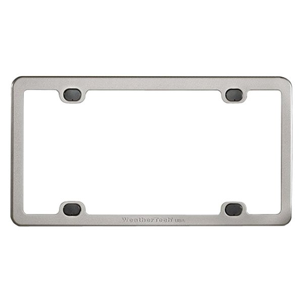 weathertech billet license plate frame - White License Plate Frame