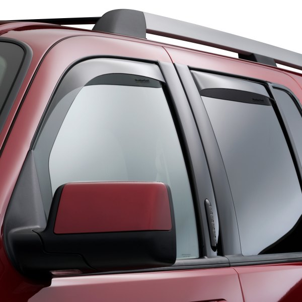 WeatherTech® - In-Channel Light Smoke Front and Rear Side Window Deflectors