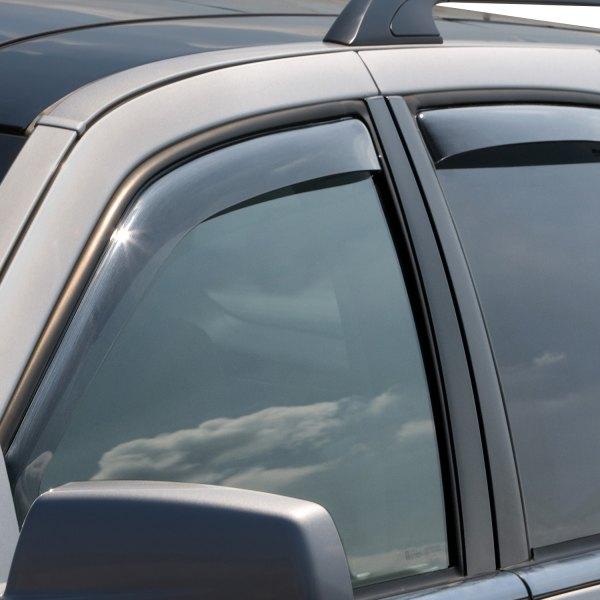 WeatherTech Custom Fit Front /& Rear Side Window Deflectors for Cadillac SRX Light Smoke