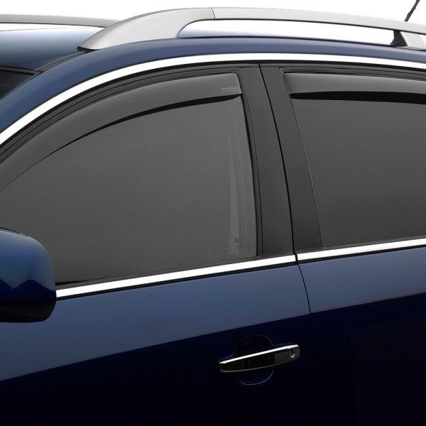 Dark Smoke WeatherTech Custom Fit Front /& Rear Side Window Deflectors for Hyundai Tucson