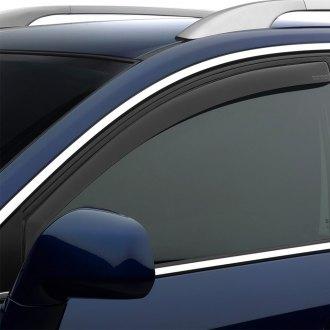 Dark Smoke WeatherTech Custom Fit Front /& Rear Side Window Deflectors for Honda Crosstour