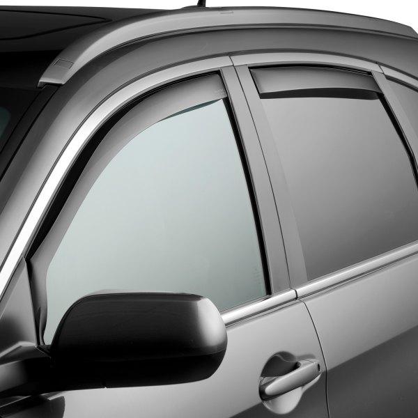 Dark Smoke WeatherTech Custom Fit Front Side Window Deflectors for Ford Ranger