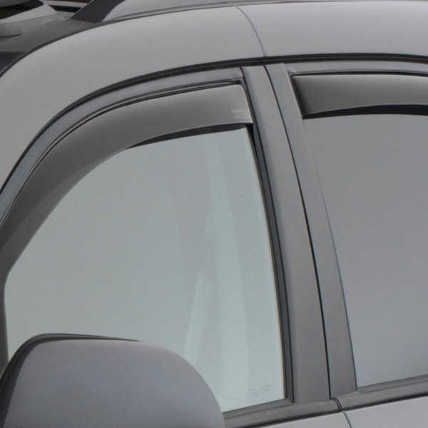 Image may not reflect your exact vehicle! WeatherTech® - Dark Smoke Side Window Deflectors