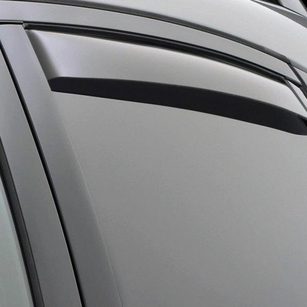 WeatherTech InChannel Dark Smoke Rear Side Window Deflectors - Acura ilx window visors