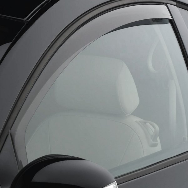 Image may not reflect your exact vehicle! WeatherTech® - Light Smoke Side Window Deflectors