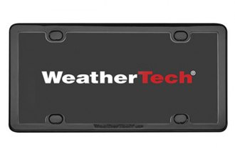 WeatherTech® - Black PlateFrame™ License Plate Frame