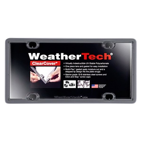 WeatherTech® - ClearCover License Plate Cover, Beluga Gray