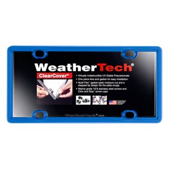 WeatherTech® - ClearCover License Plate Cover, Blue