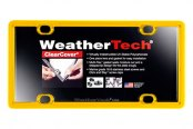 WeatherTech® - ClearCover License Plate Cover, Golden Yellow