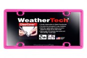WeatherTech® - ClearCover License Plate Cover, Hot Pink