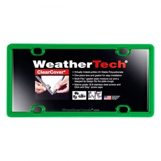 WeatherTech® - ClearCover License Plate Cover, Kelly Green