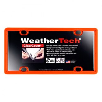 WeatherTech® - ClearCover License Plate Cover, Orange