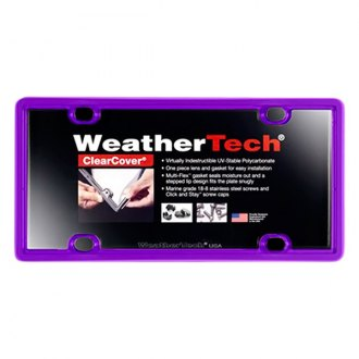 WeatherTech® - ClearCover License Plate Cover, Purple