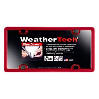 WeatherTech® - ClearCover License Plate Cover, Red