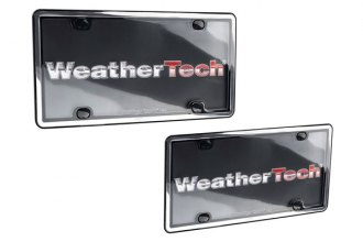 WeatherTech® ClearCover License Plate Cover Kit, Chrome / Black
