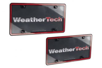 WeatherTech® 60022 - ClearCover™ License Plate Cover Kit (Red / Black)