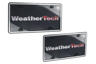 WeatherTech® 60027 - ClearCover™ License Plate Cover Kit (Brushed Stainless / Black)