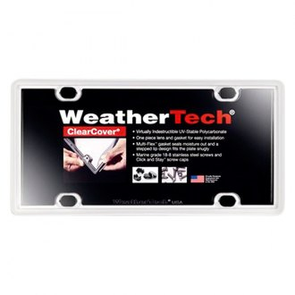 WeatherTech® - ClearCover License Plate Cover, White