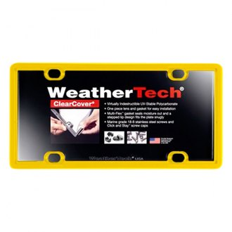 WeatherTech® - ClearCover License Plate Cover, Yellow