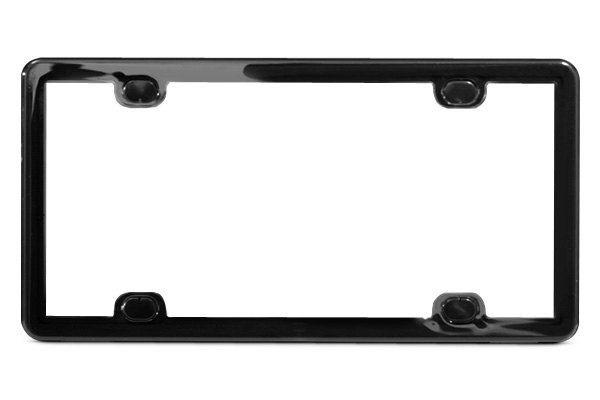 WeatherTech® ClearFrame License Plate Frame - Black