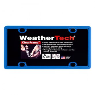 WeatherTech® - ClearFrame License Plate Frame, Blue