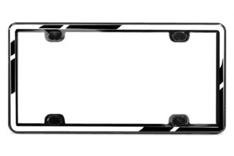 WeatherTech® ClearFrame License Plate Frame Kit, Chrome / Black